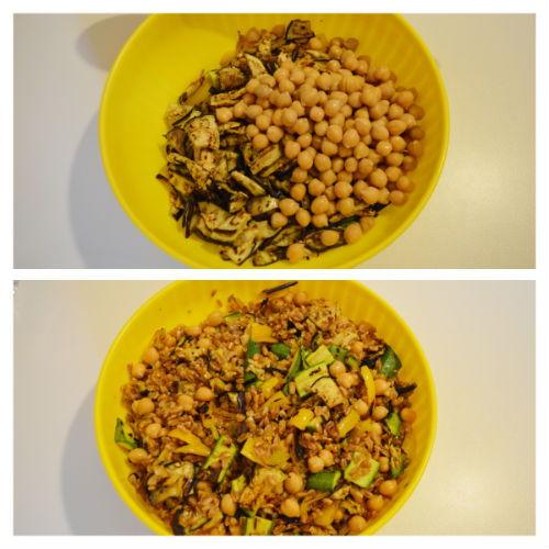 insalata farro ceci e verdure 5