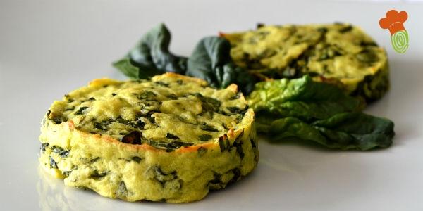 medaglioni spinaci e patate