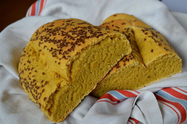 pane di semola e farina di lupino 1