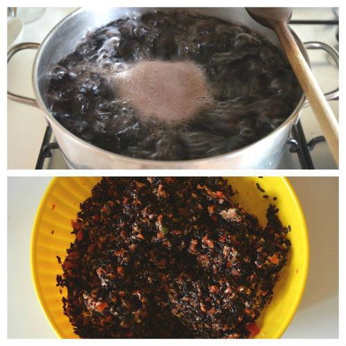 riso nero con pesto pomodorini 2