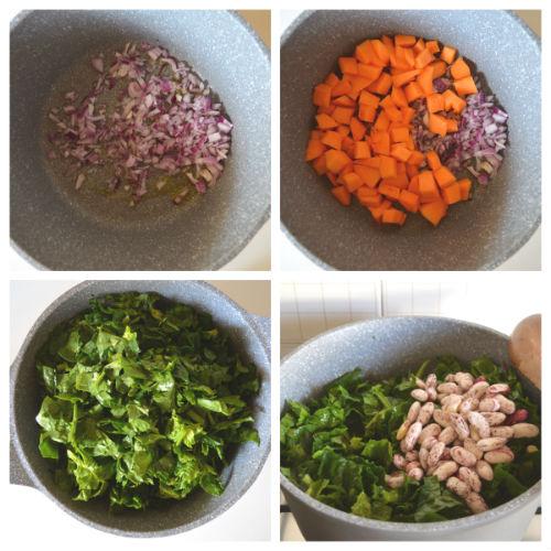 zuppa di farro e fagioli borlotti 2