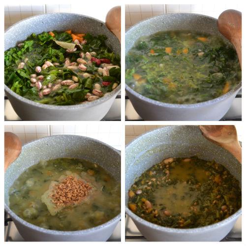 zuppa di farro e fagioli borlotti 3