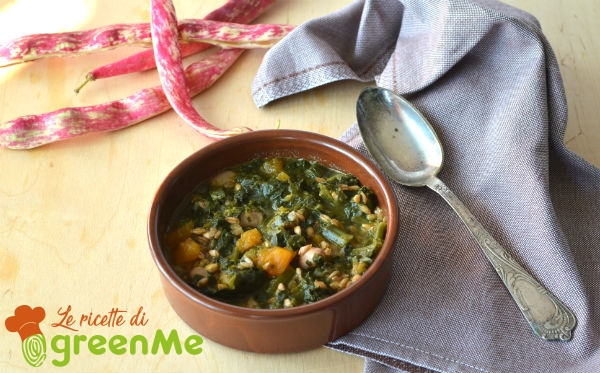 zuppa di farro e fagioli borlotti 4
