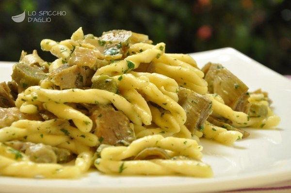 pasta carciofi vegan