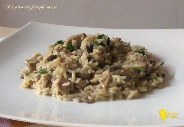 risotto funghi vegetariano
