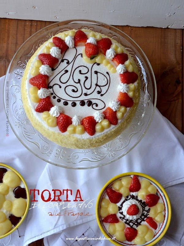 torta di compleanno fragole