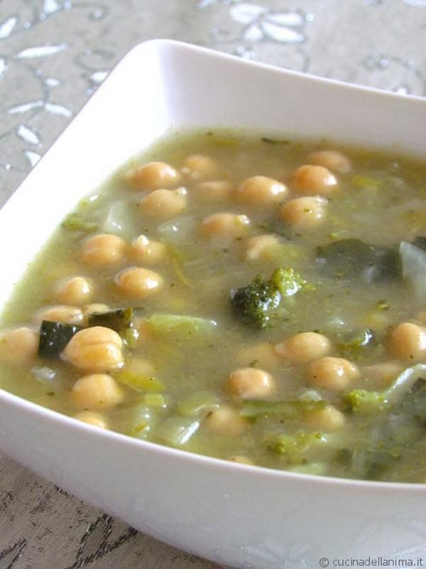 zuppa ceci broccoletti