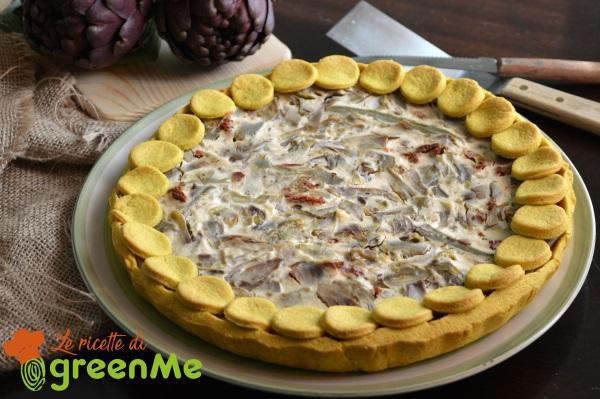 crostata salata carciofi ricotta 7