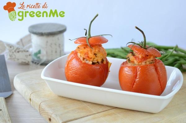 pomodori ripieni riso fagiolini 5