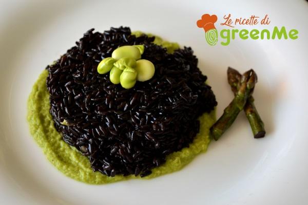 riso venere crema asparagi fave 3