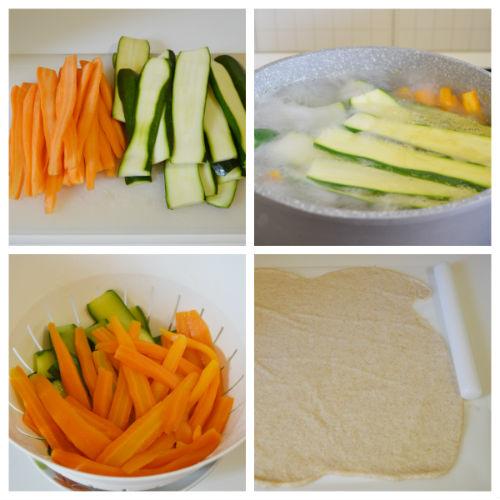 torta salata zucchine carote 1