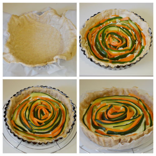 torta salata zucchine carote 2