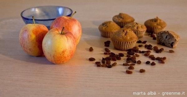 muffin integrali alle mele e cannella