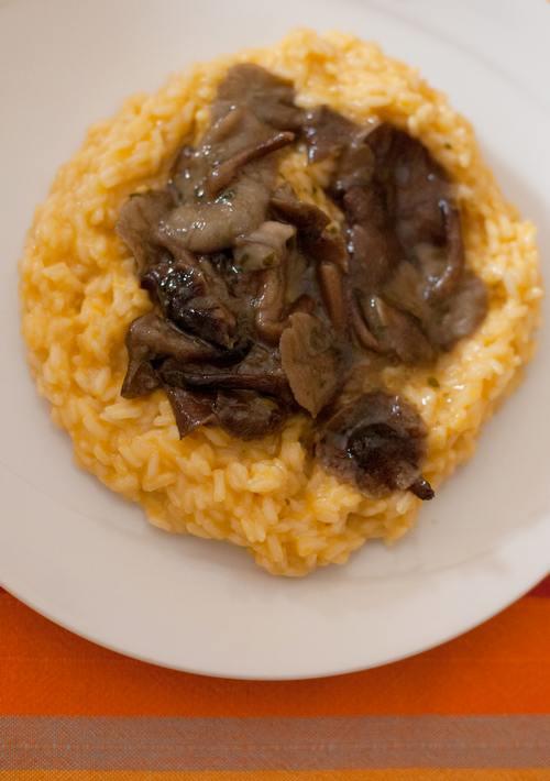 risotto zucca e funghi