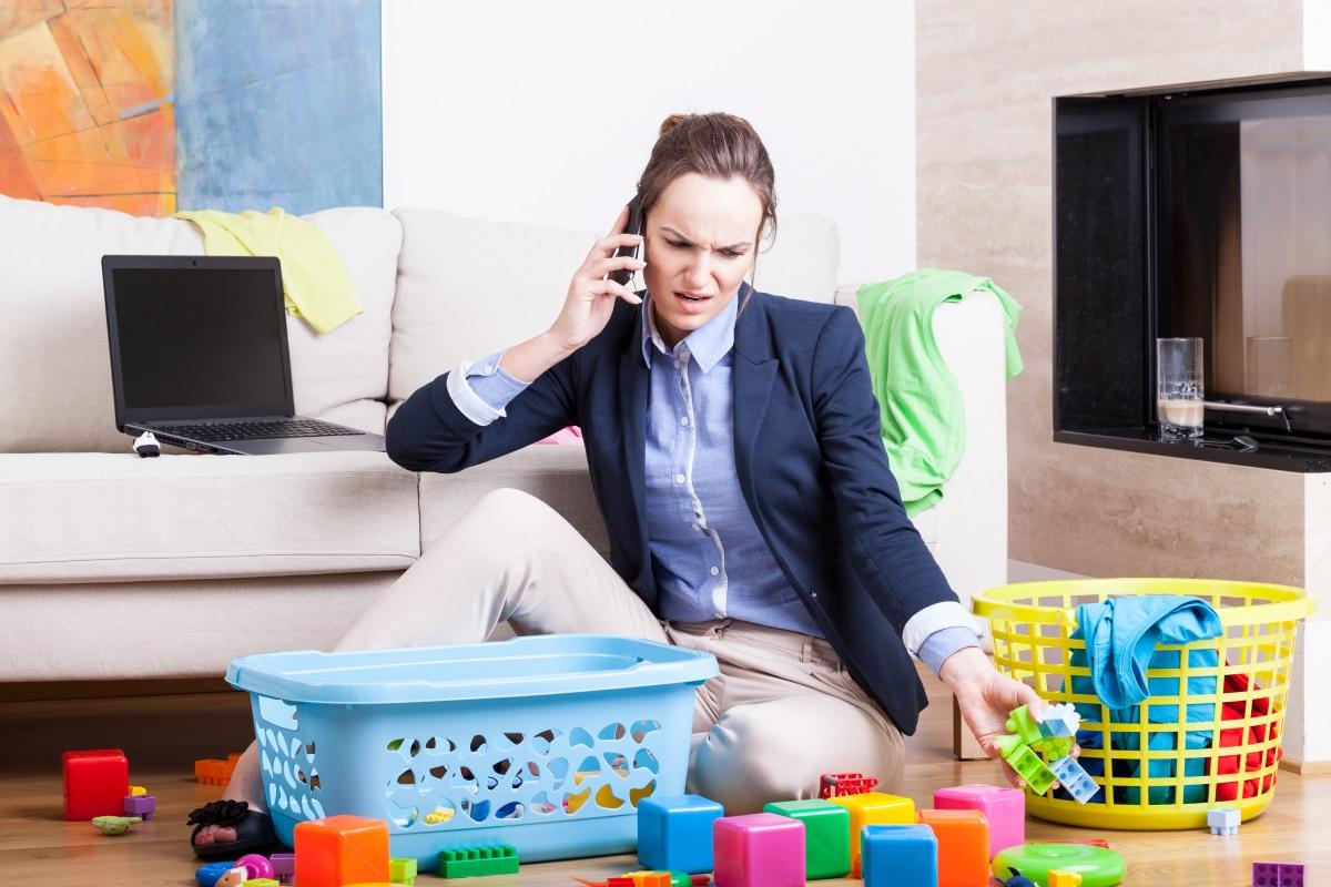 Lavoro invisibile delle madri in famiglia