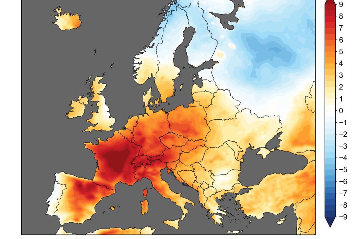 Mappa temperature Europa giugno