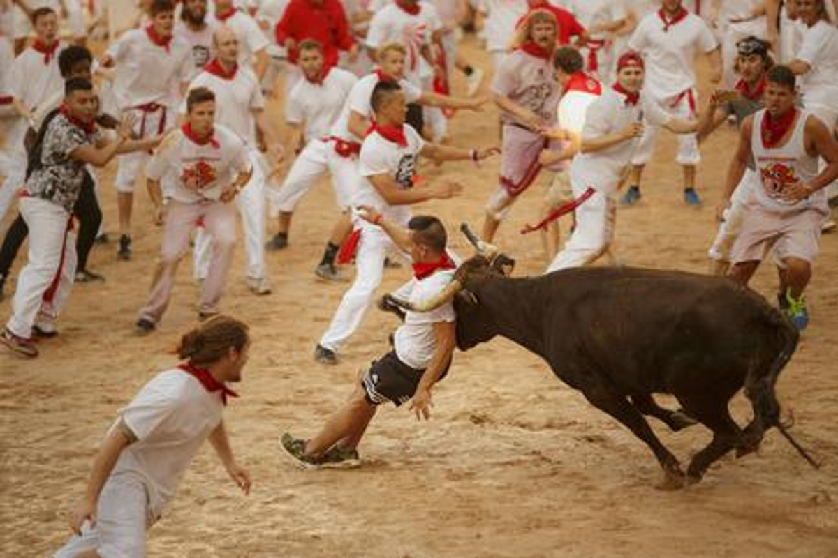 Corsa dei tori a Pamplona