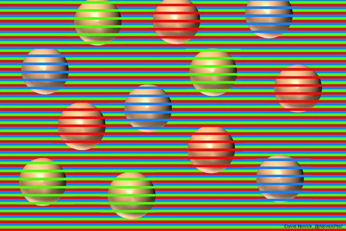 Illusione ottica con sfere