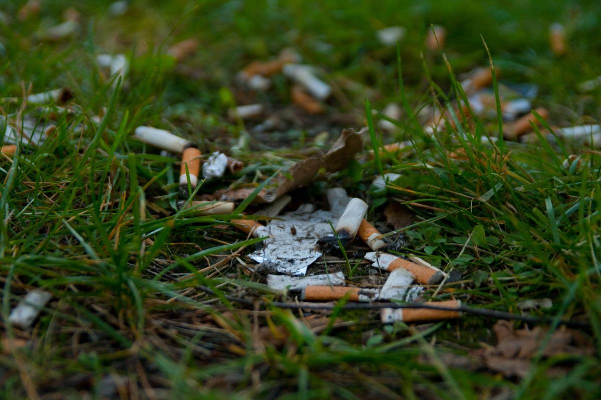 Inquinamento mozziconi sigarette