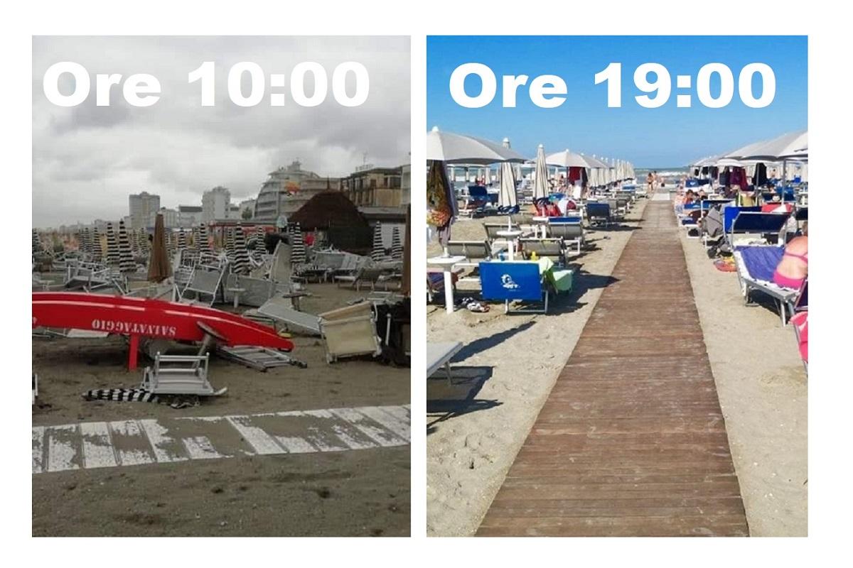 Riviera Romagnola prima e dopo