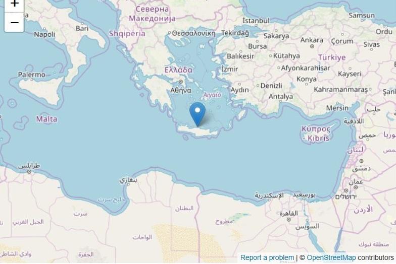Terremoto Grecia a Creta