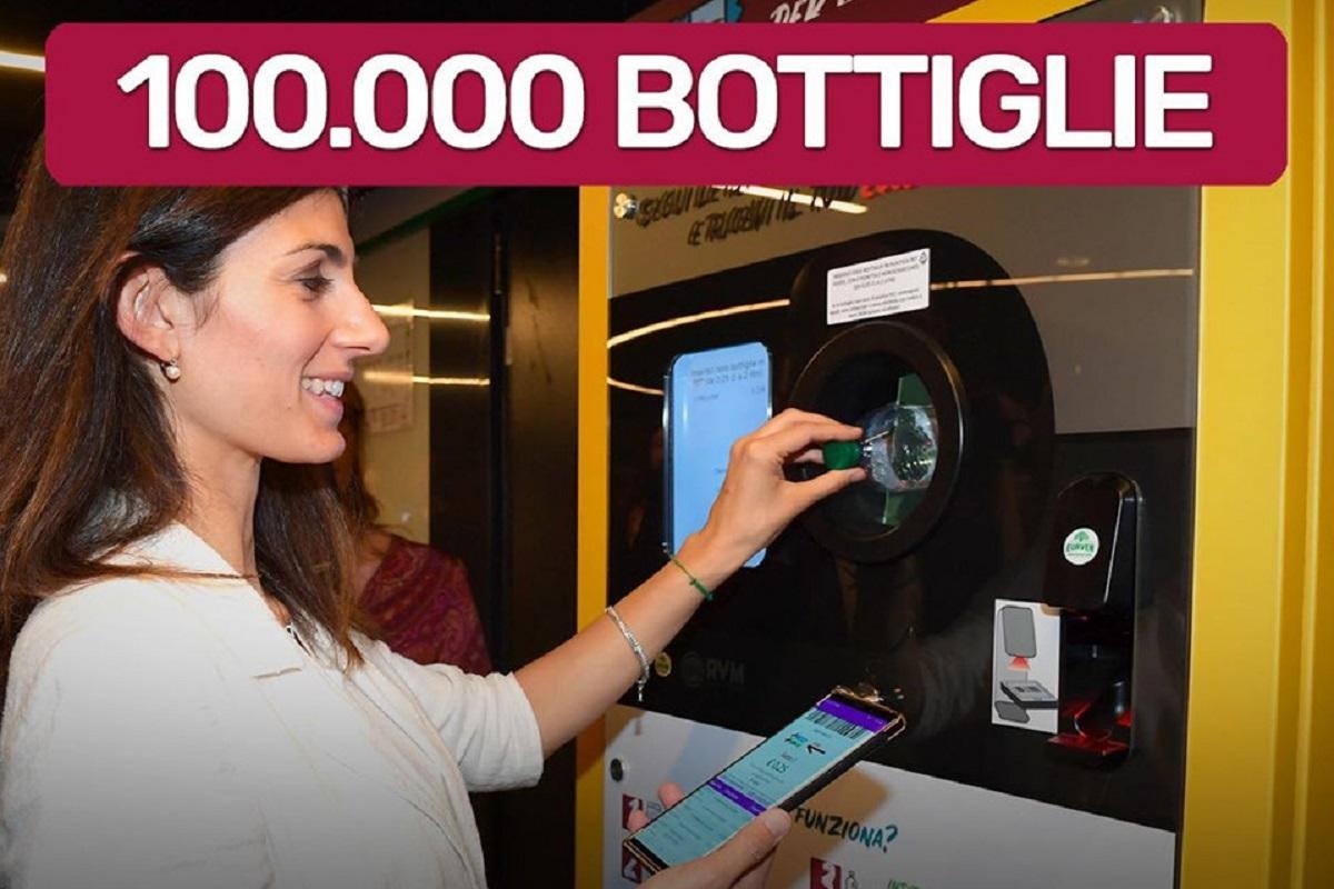 Bottiglie riciclate a Roma