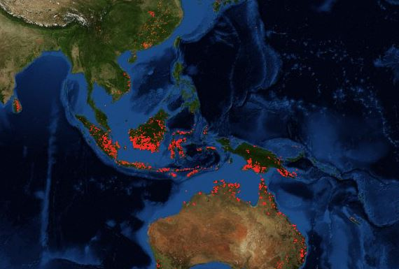 Incendi in Indonesia