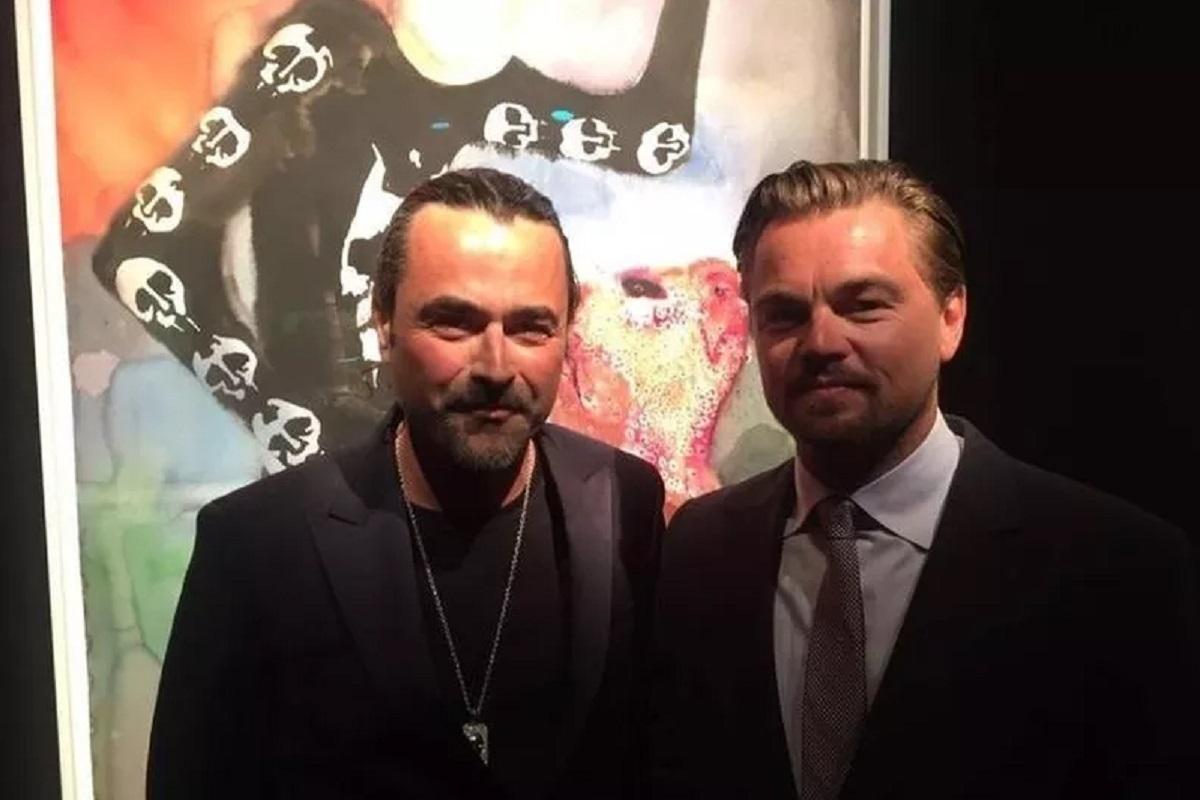 Leonardo di Caprio con l'imprenditore del marmo