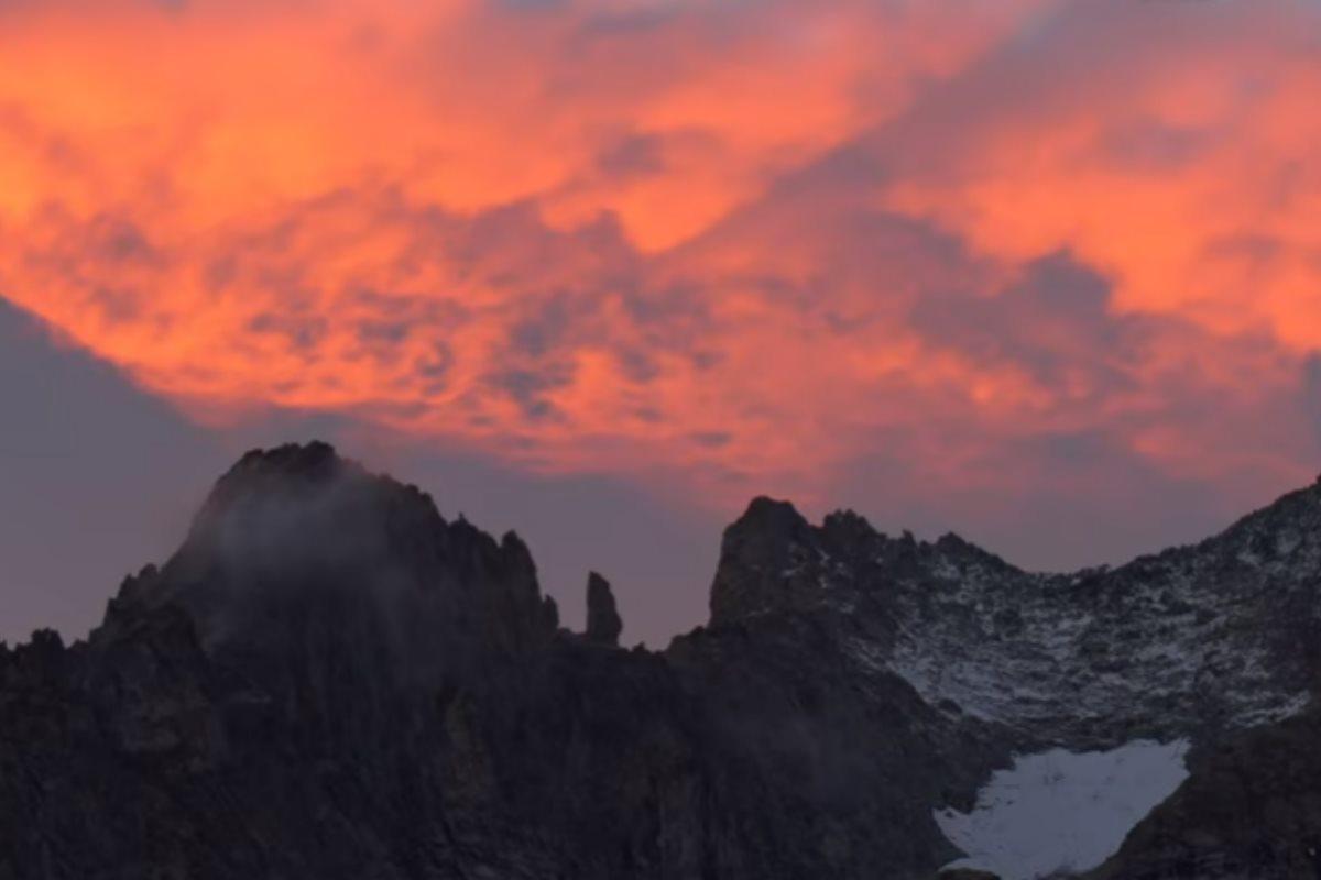 tramonto monte bianco