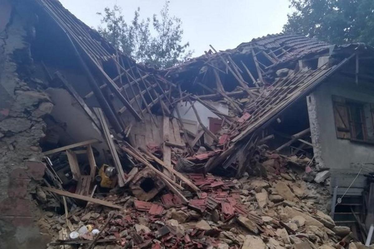Crollo abitazione Campo Ligure