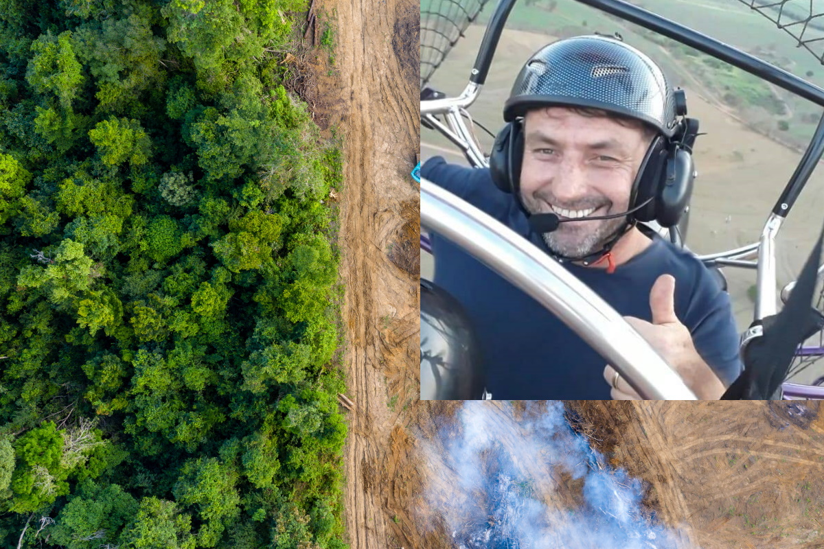 Pilota riforesta l'Amazzonia