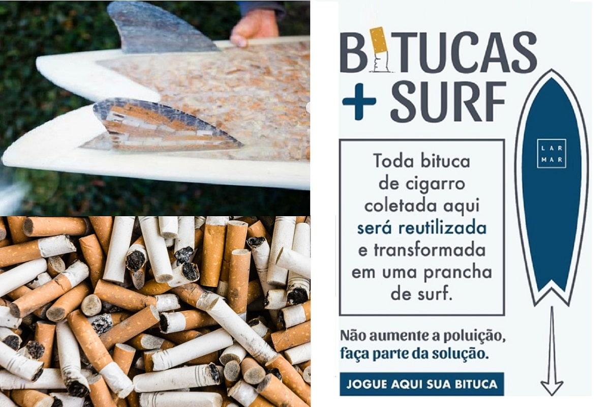 Sigarette trasformate in tavole da surf