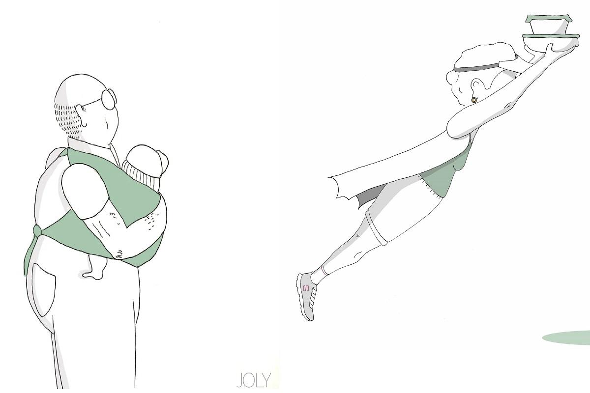 Abuela illustrazioni