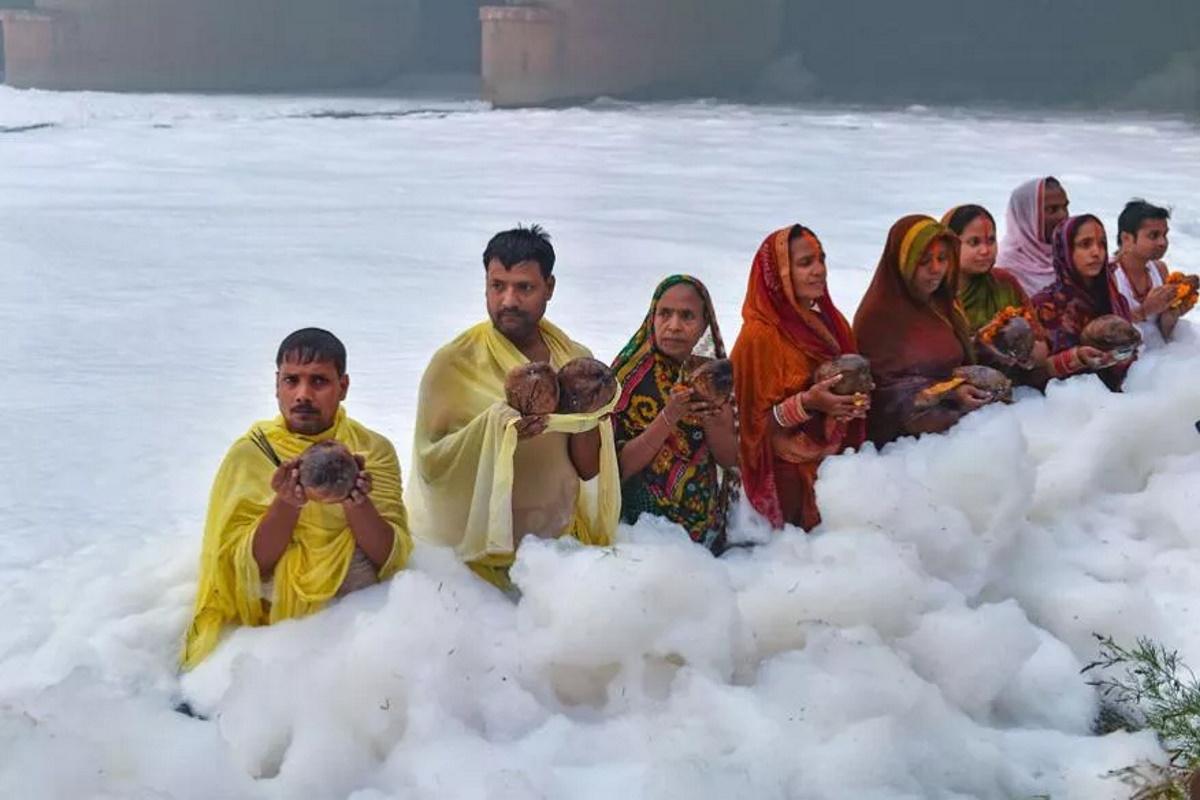 Inquinamento fiume Yamuna