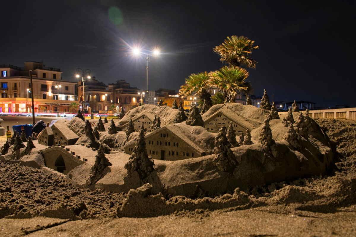ostia presepe sabbia