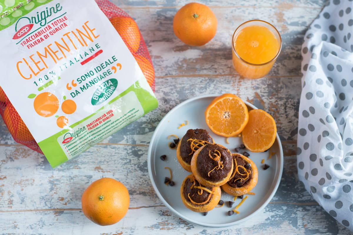 mini muffin cioccolato clementine