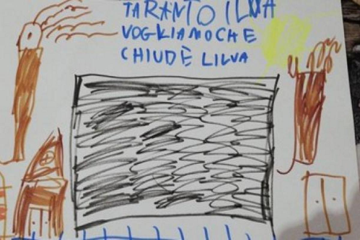 Disegno bambina contro l'Ilva