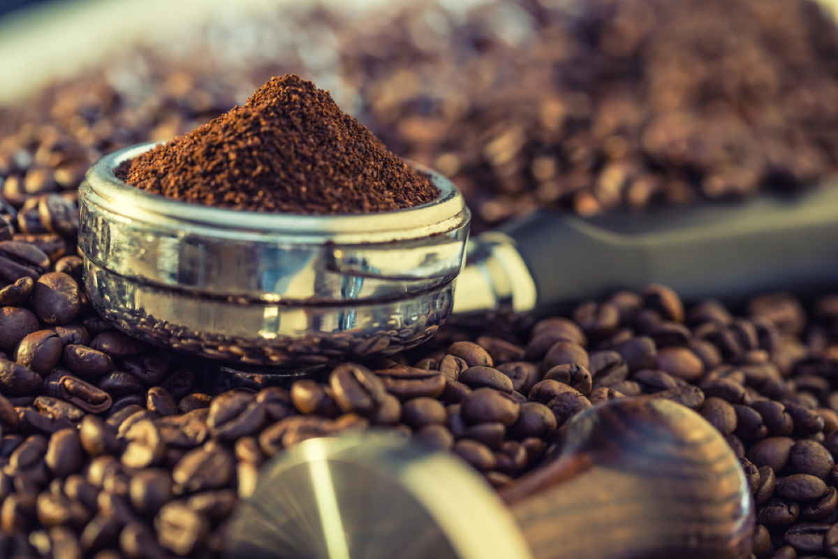 caffè polvere chicchi