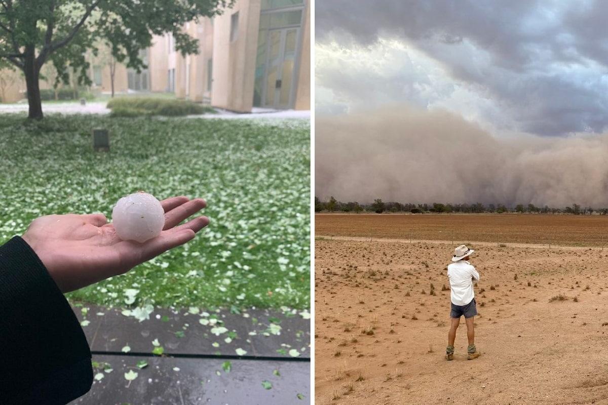 grandine e tempeste di sabbia
