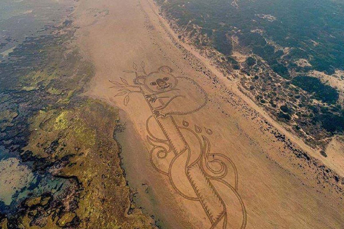 disegni su sabbia