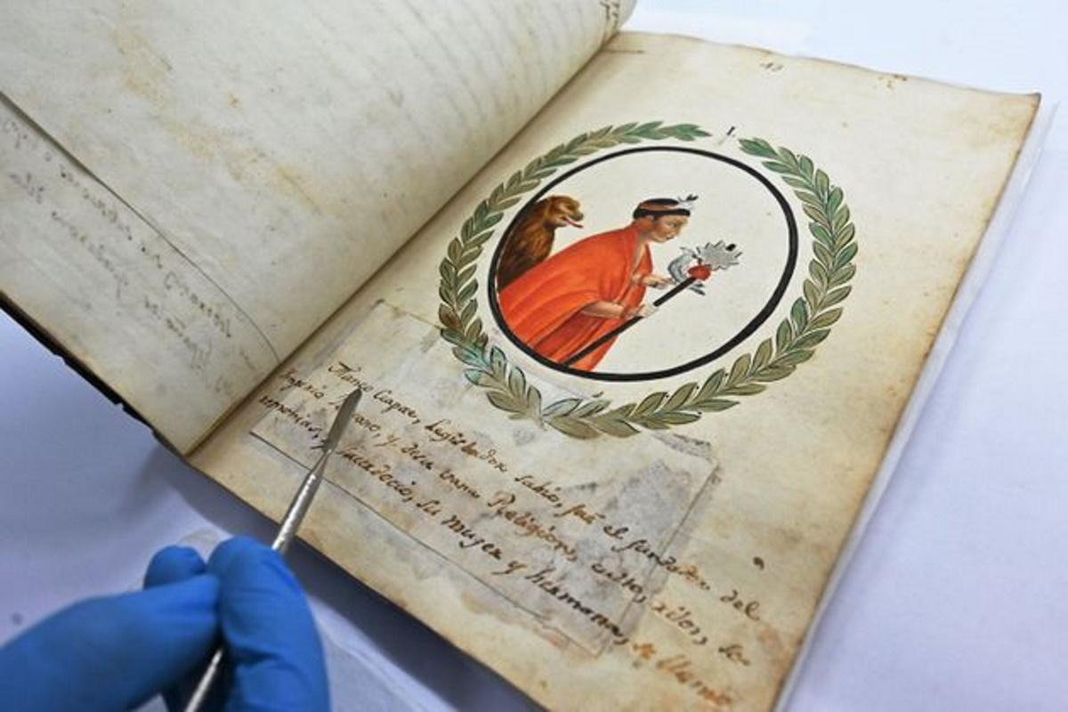 Manoscritto Inca Perù