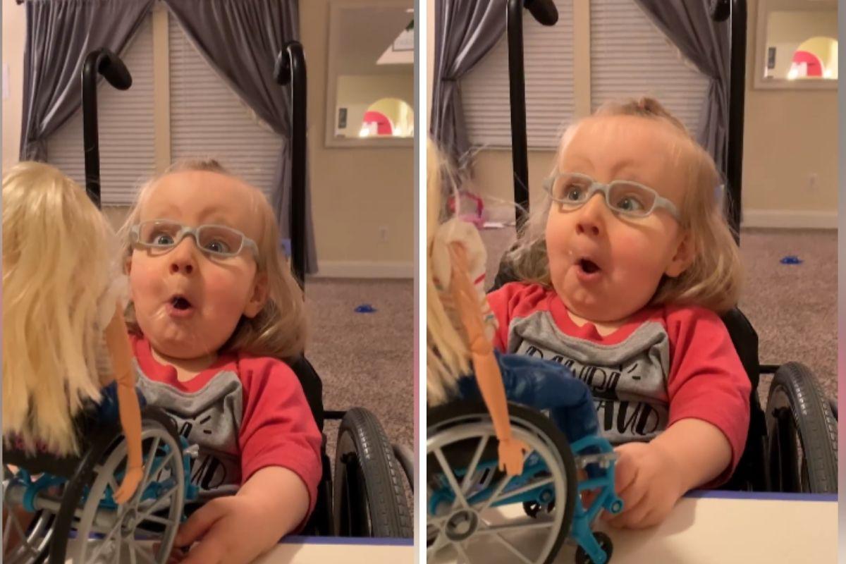 Riceve in regalo una Barbie con sedia a rotelle: la ...