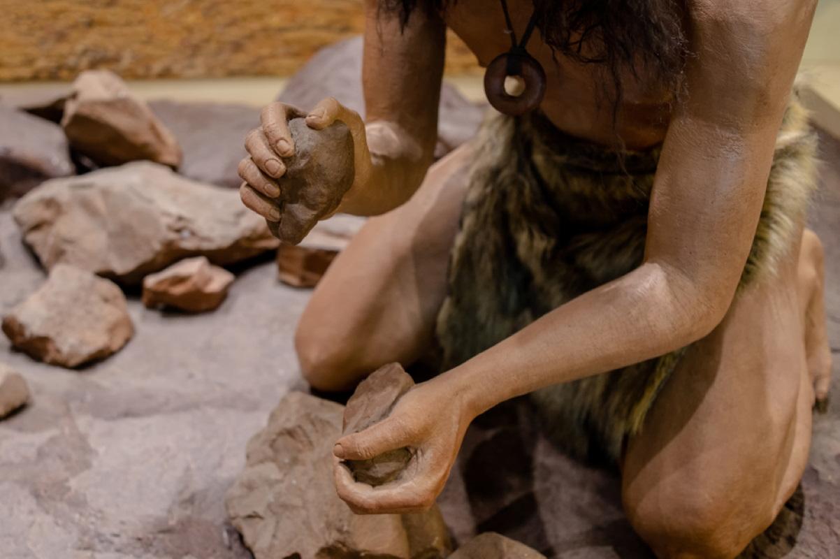uomo di neanderthal fibre naturali