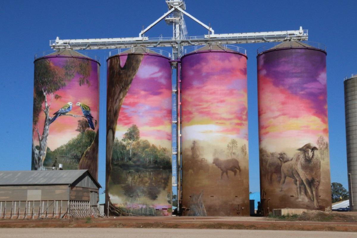 Murale sui silos