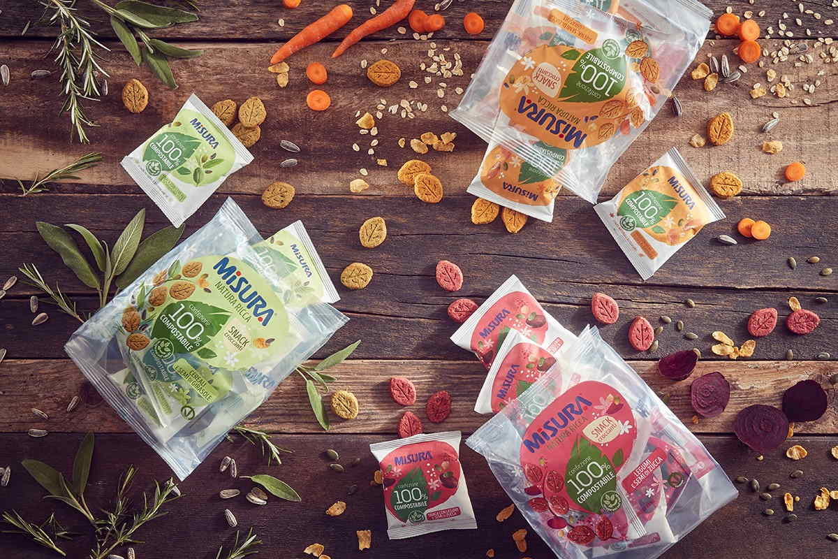Misura snack compostabili