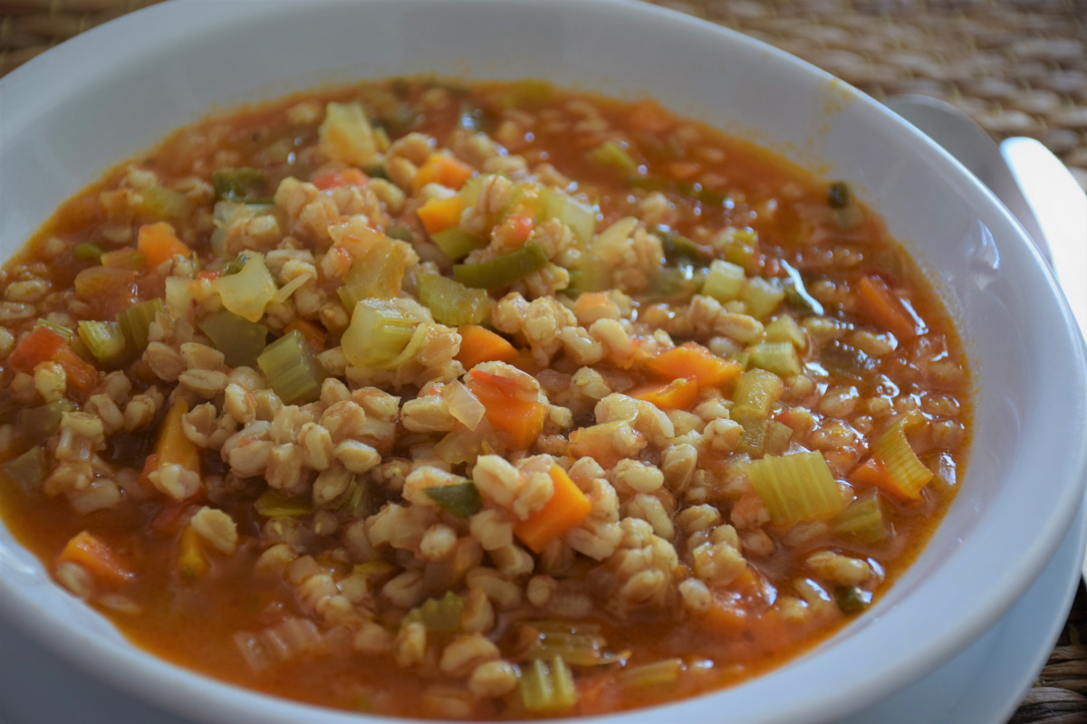 Zuppa con farro