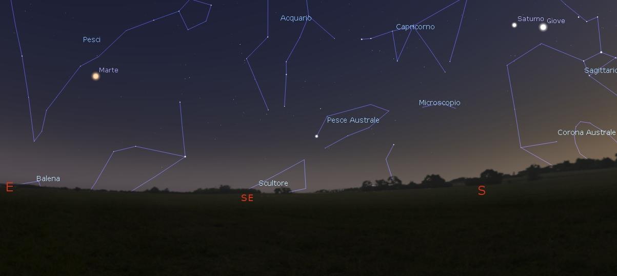 marte Saturno e Giove