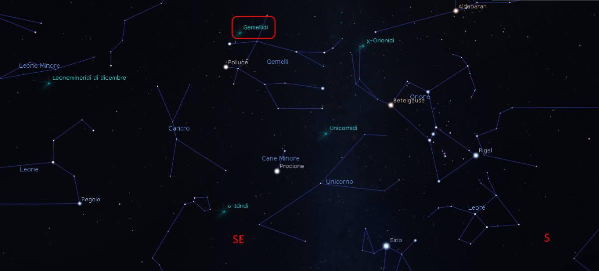 geminidi stelle cadenti dicembre 2020