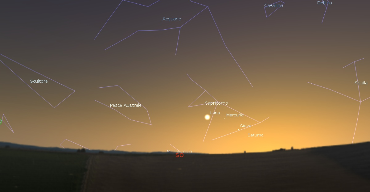 luna mercurio giove saturno