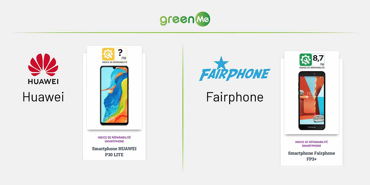 indice riparabilita fairphone huawei